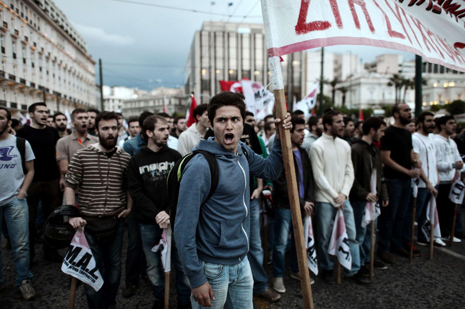 Studentenprotest / Athen