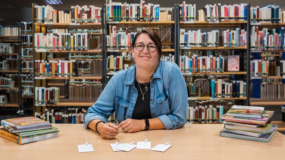 Melanie Heine in der Stadtbücherei Castrop-Rauxel