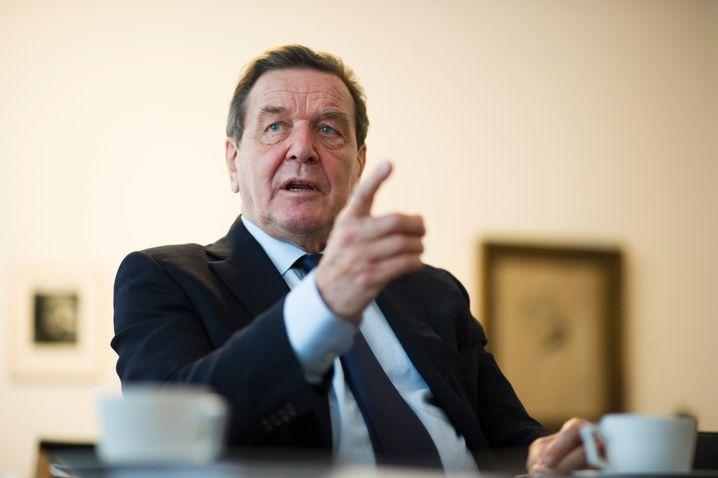 Ex-Kanzler Schröder: Er sieht die SPD auf einem guten Weg