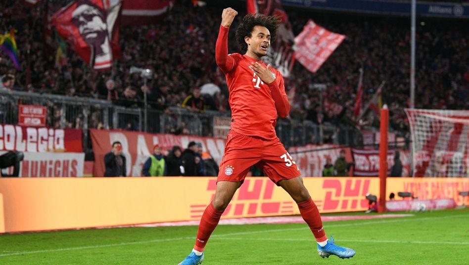 Joshua Zirkzee bejubelt seinen zweiten Bundesligatreffer innerhalb weniger Tage