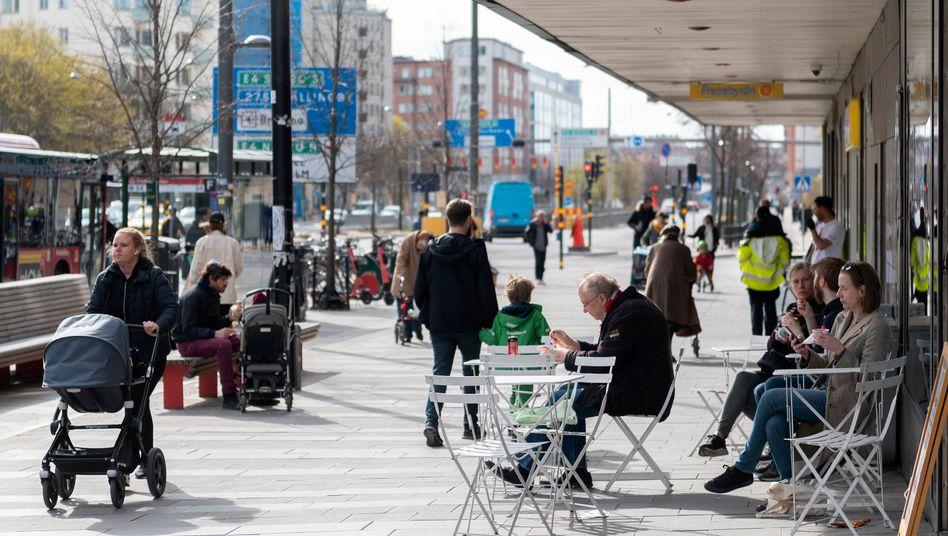 Eine Straße in Stockholm