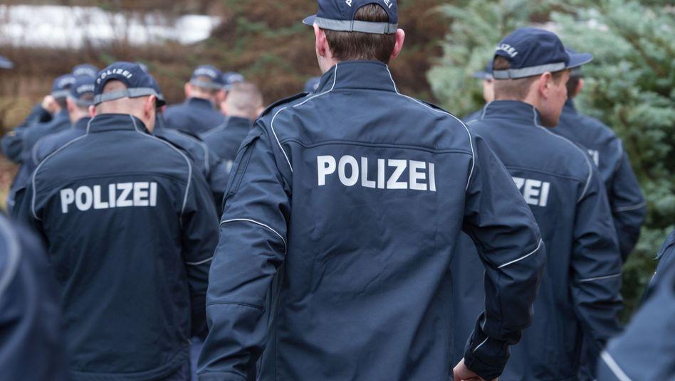 Polizisten in Sachsen (Archivfoto)