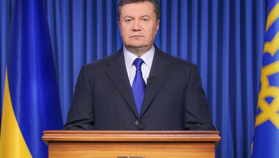 """Ukrainischer Präsident Wiktor Janukowitsch: EU prüft """"alle Optionen"""""""