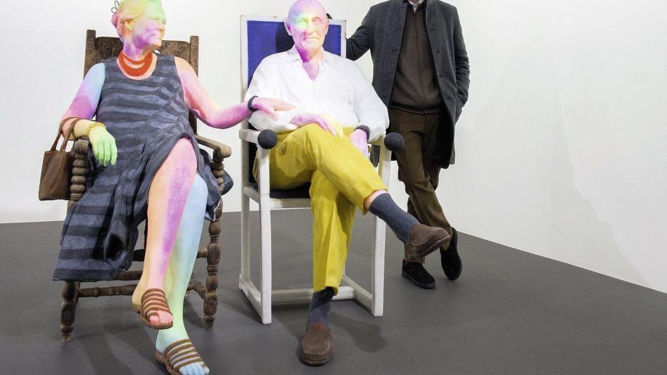 Galerist Schnabel, Urs-Fischer-Skulptur