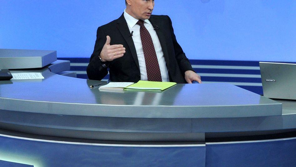 """Russischer Präsident Putin (Archivbild): """"Absolut alles können wir selbst machen"""""""
