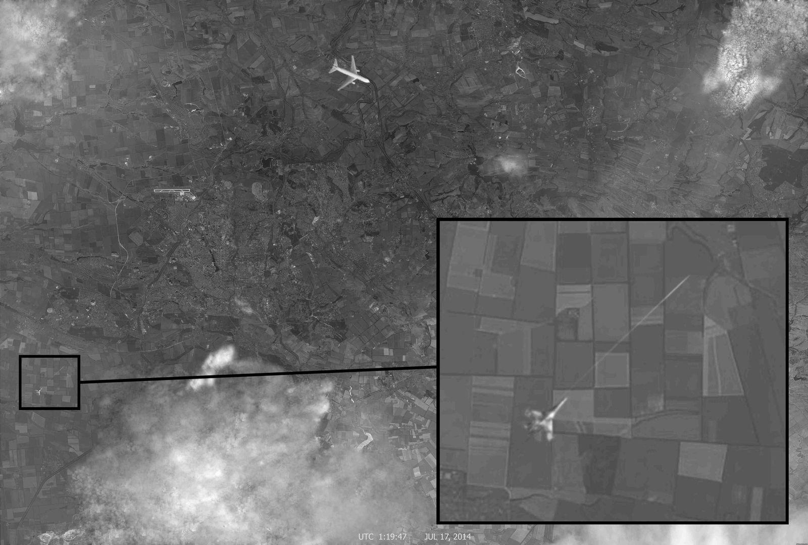 Mh17/ Kampflugzeug/ Satellitenbild
