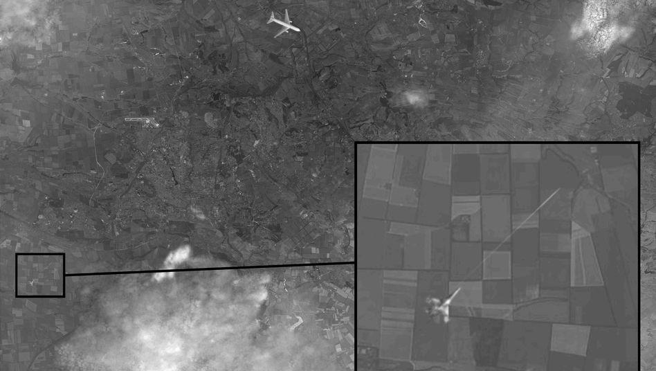 """Vermeintliches Satellitenbild mit MH17 und Kampfjet: """"Wer ist die Quelle der Wahrheit, und wer der Vater aller Lügen?"""""""