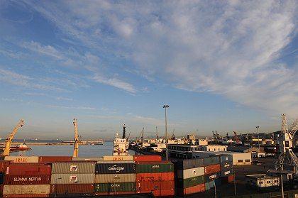 The main port of Algiers.