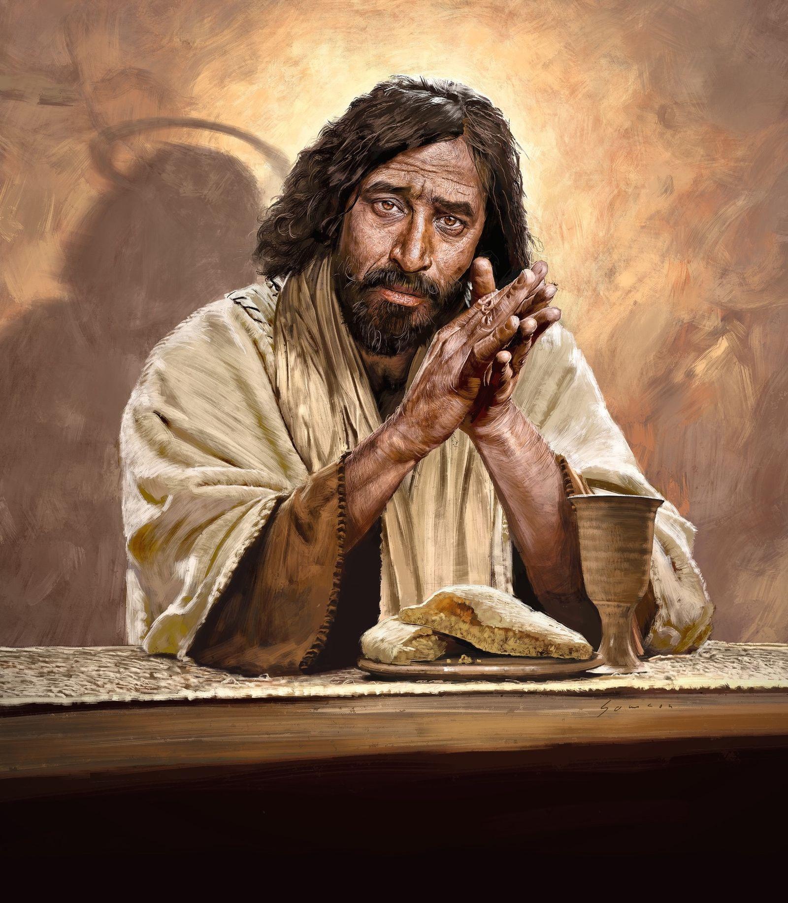 EINMALIGE VERWENDUNG Illustration/ Jesus von Nazareth (SPIEGEL TITEL 14/2018)