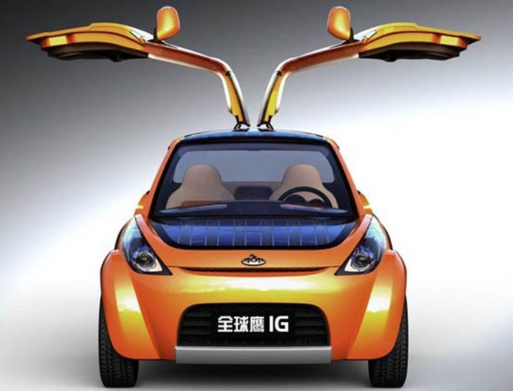Hybrid-Auto Geely IG mit Solarzellen und Flügeltüren soll 2012 zu haben sein