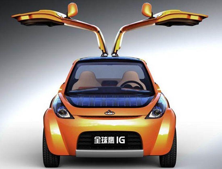 EINMALIGE VERWENDUNG Hybrid-Auto Geely IG / Engadget 300410 / 1
