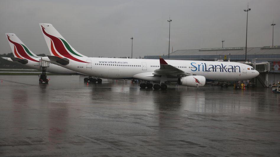 Sri Lankan Airlines-Airbus auf dem Flughafen von Colombo