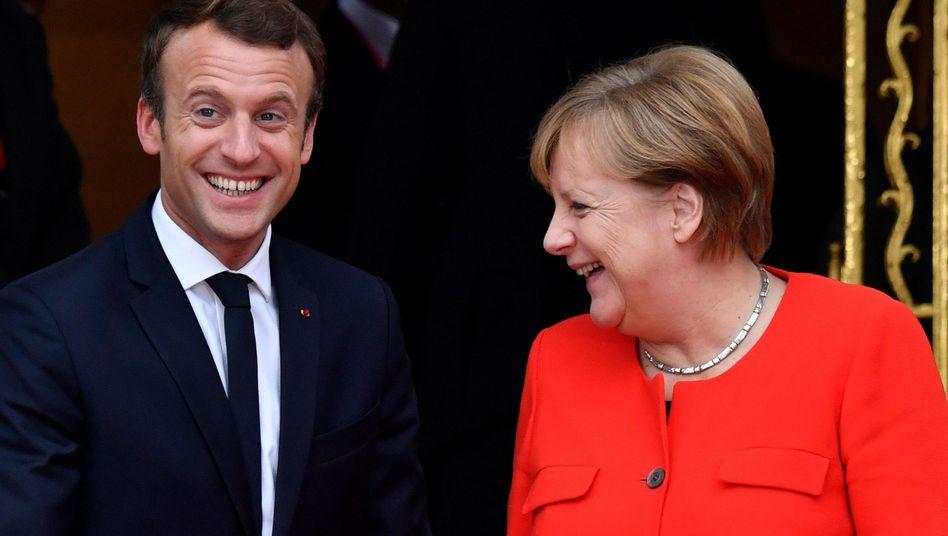 Emmanuel Macron und Angela Merkel (Archivbild)