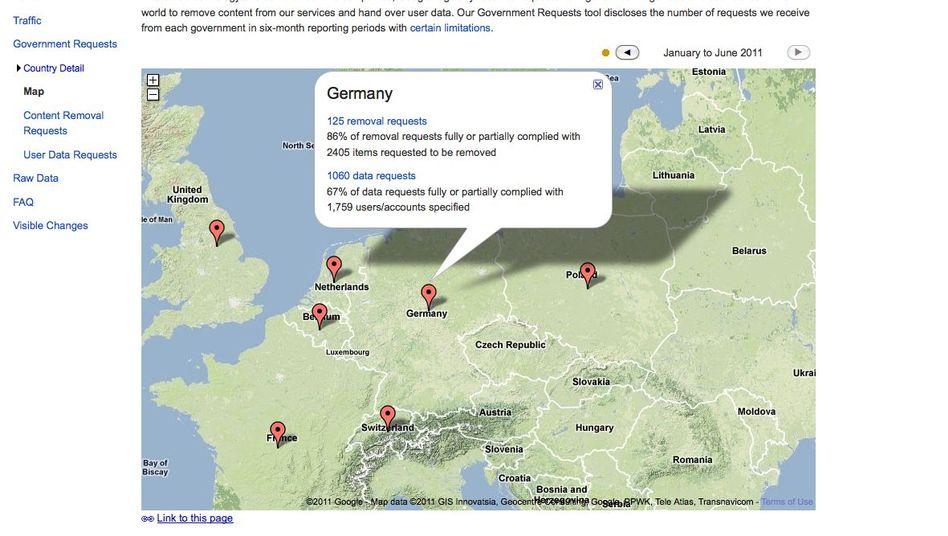 """Google """"Transparency Report"""": Löschen sie das!"""