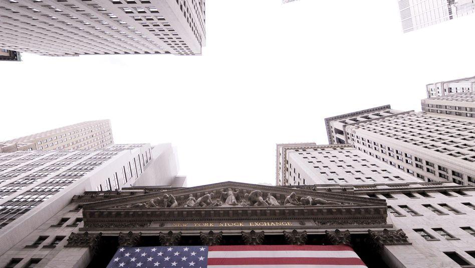 US-Börse an der Wall Street: Amerikas Finanzkonzerne bangen um Haushalt