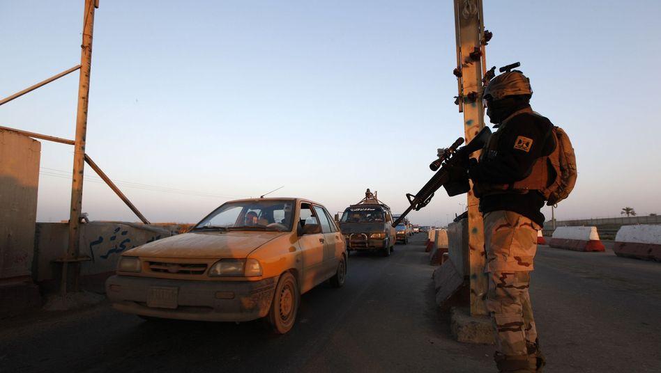 Soldat im Irak (bei Bagdad): Raketen und Drohnen für Bagdad