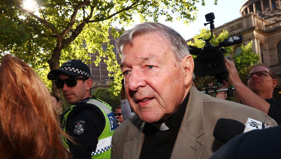 Kardinal George Pell (Ende Februar vor Gericht in Melbourne)