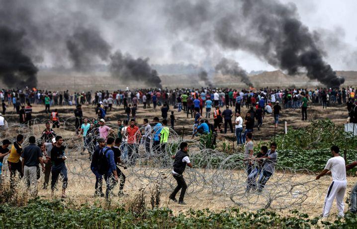Protest an der Grenze zu Gaza