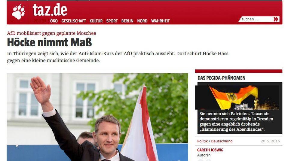 Beitrag auf taz.de