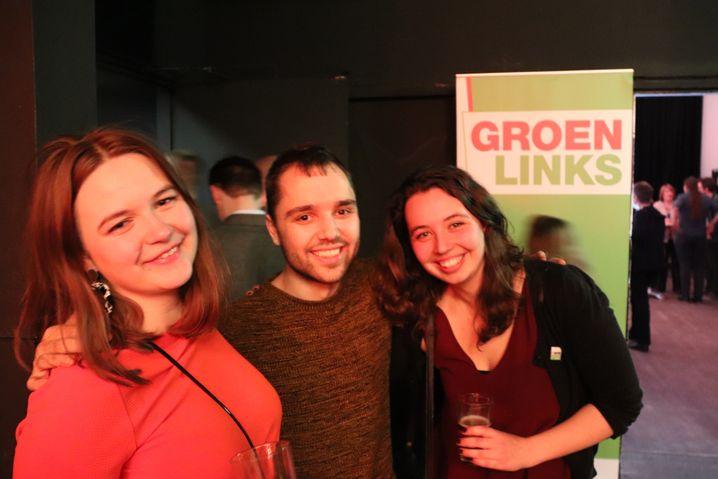 Die Studenten Roos, Lyle und Sonja