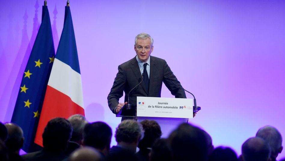 Bruno Le Maire, Frankreichs Wirtschaftsminister und in Sachen Zölle Gegenspieler von US-Präsident Donald Trump