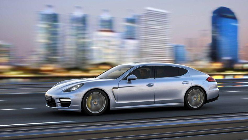 Nicht wirklich emissionsfrei: Ein Porsche Panamera