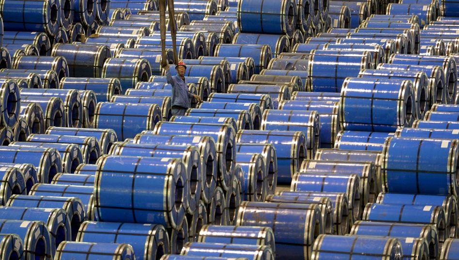 Stahlfabrik im chinesischen Taiyuan