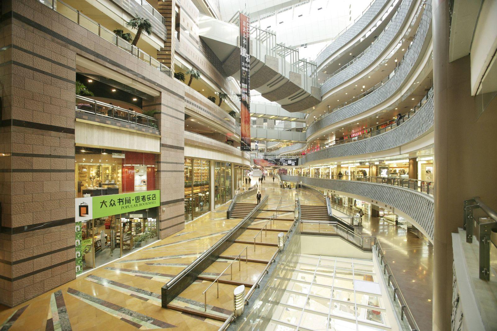 EINMALIGE VERWENDUNG Geschäfte leer China