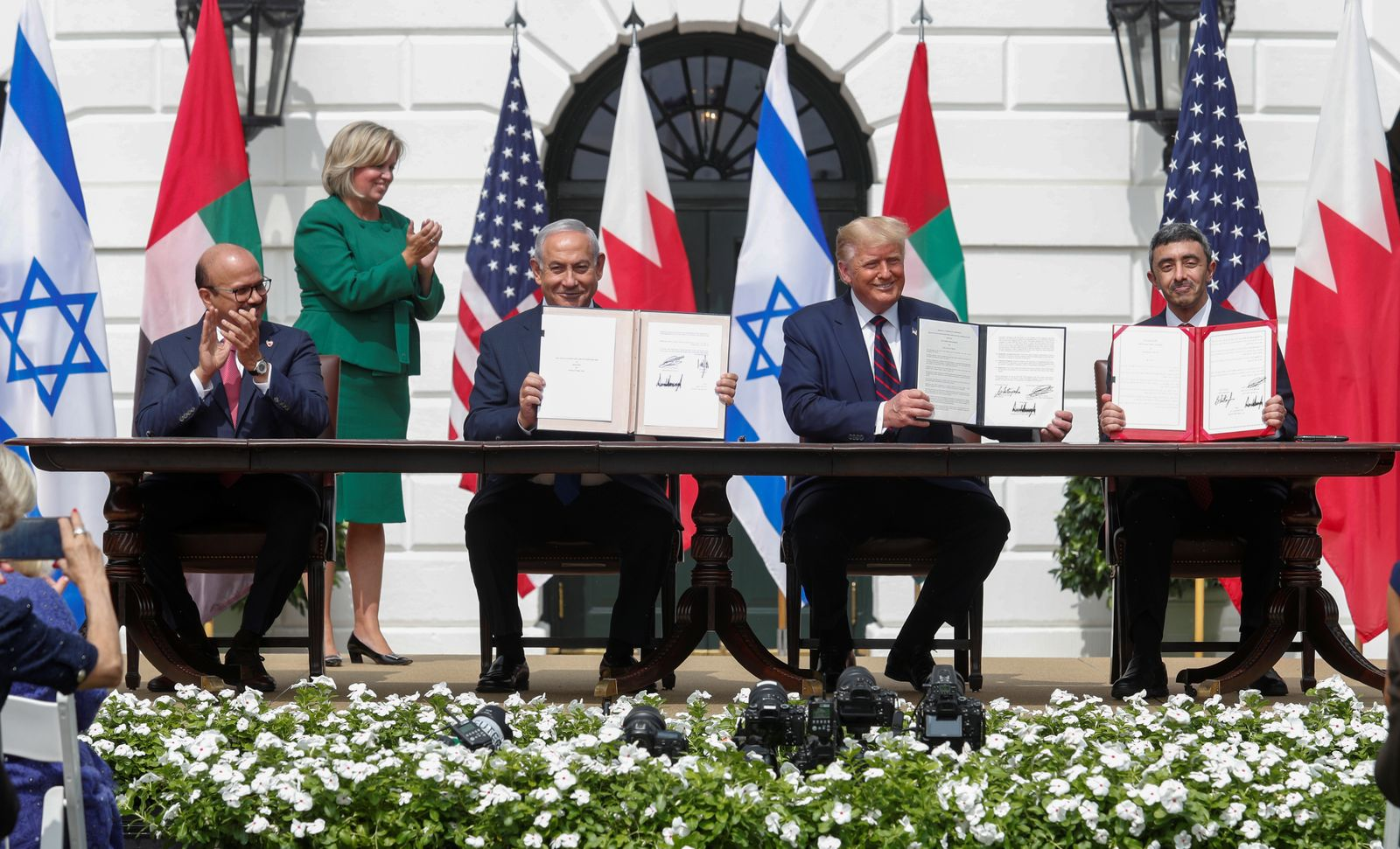 U.S. President Trump hosts leaders for Abraham Accords signing ceremony at the White House in Washington