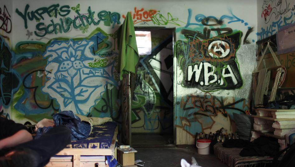 In besetztem Haus (Berlin-Friedrichshain 2011)
