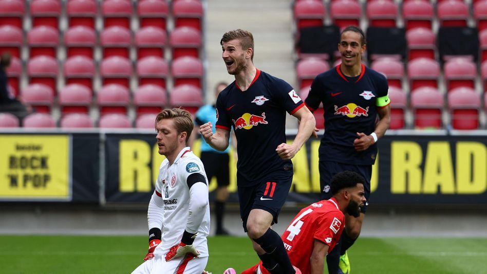 Mainz am Boden, Timo Werner jubelt