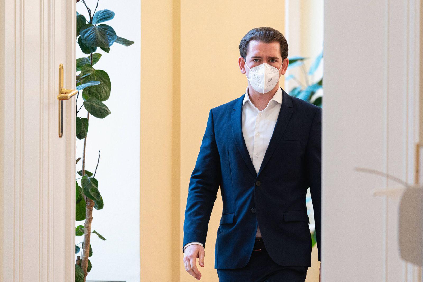 Wien 22.03.2021, Bundeskanzleramt, Wien, AUT, Bundesregierung, Kameraschwenk vor Treffen der Bundesregierung mit Experti