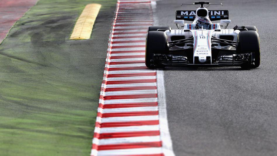 Lance Stroll in seinem Williams auf der Piste