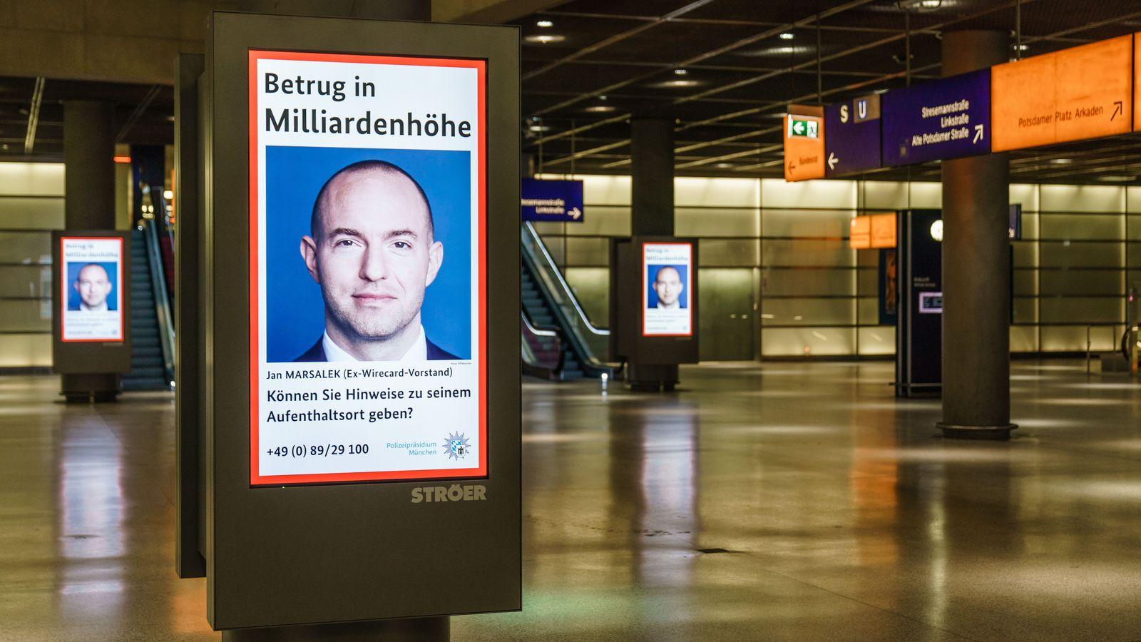 German police advertises wanted poster of Wirecard management member Marsalek, Berlin, Germany - 13 Aug 2020