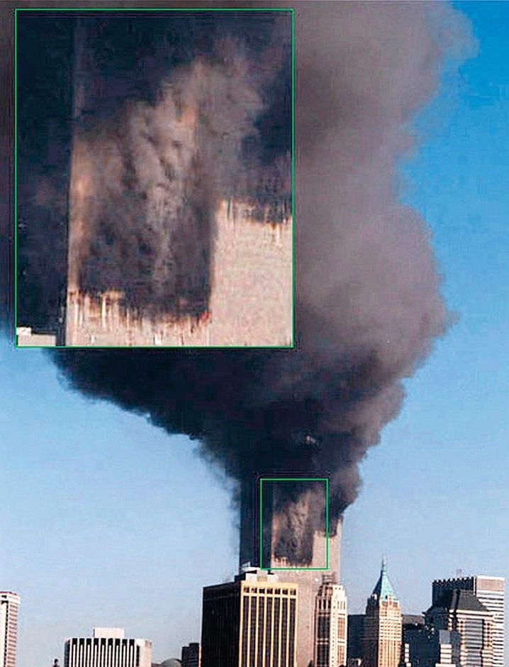 The twin towers of the World Trade Center on Sept. 11, 2001
