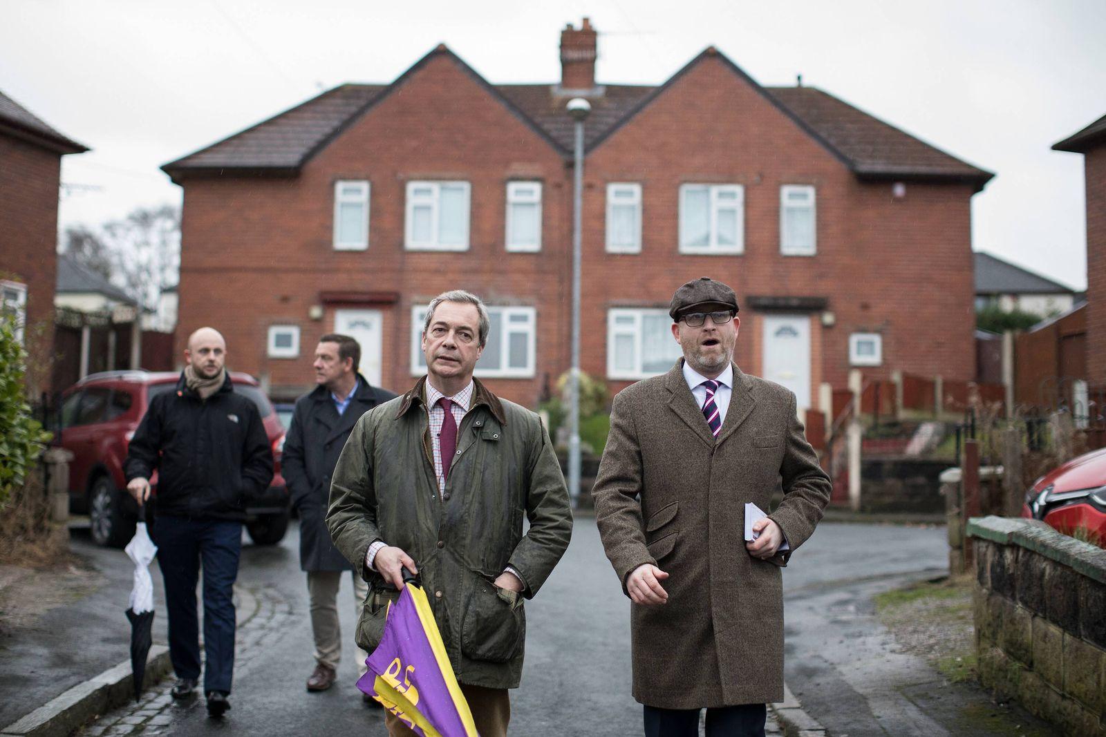 EINMALIGE VERWENDUNG Nigel Farage / Paul Nuttall