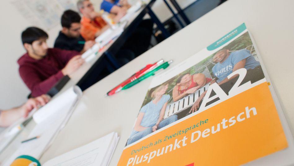 Ein Deutschbuch in einem Integrationskurs