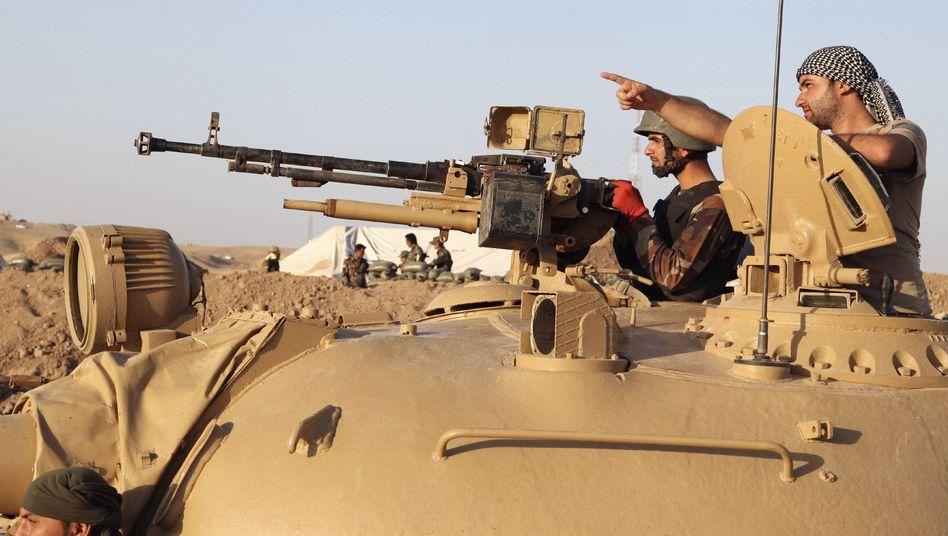 Peschmerga-Kämpfer in Khazer: Die EU begrüßt die Lieferung von Waffen durch einzelne Mitgliedstaaten