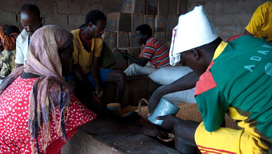 Eritreische Flüchtlinge im Lager Shimelba (September 2015): Zerstört und geplündert