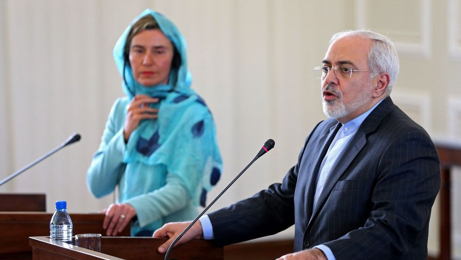 Irans Außenminister Zarif und die EU-Außenbeauftragte Mogherini