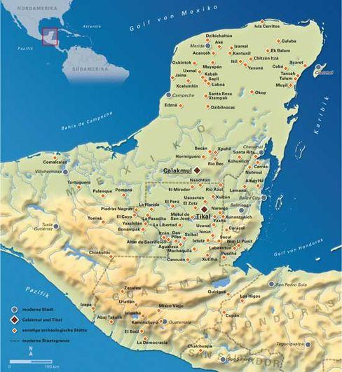 Yucatán in Mexiko: Überreste der Maya in dichtem Regenwald