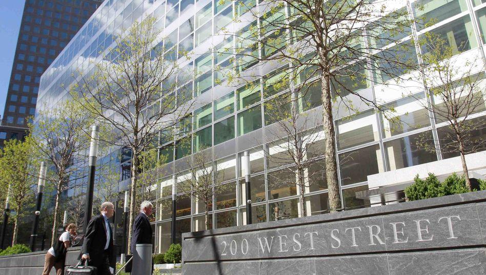 Zentrale von Goldman Sachs in New York: Einbußen im Anleihegeschäft