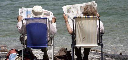 Rentner am Strand: Bezüge sollen um 1,1 Prozent steigen