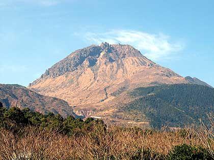Unzen: Blick auf Mount Fugen, der zum Vulkankomplex gehört