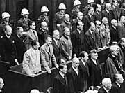 Nazi war criminals tried after the war in Nuremberg.