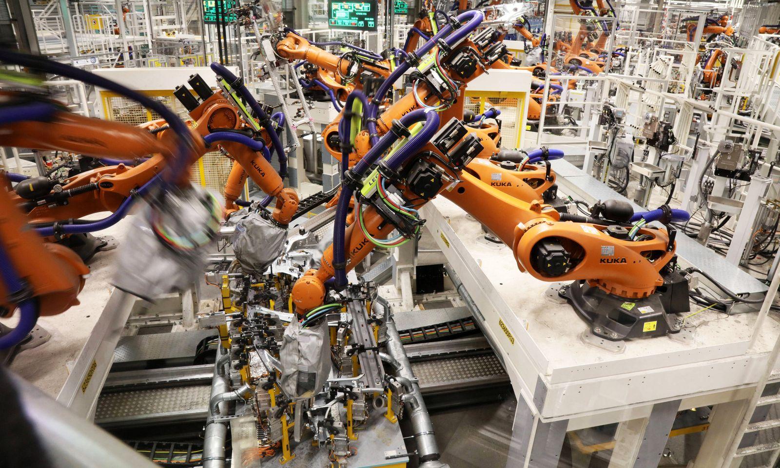 Zwickau Volkswagen Sachsen Produktion VW ID3 PKW Eletroauto Elektromobilitaet Umbau 25.02.2020 lz Volkswagen Sachsen Wer