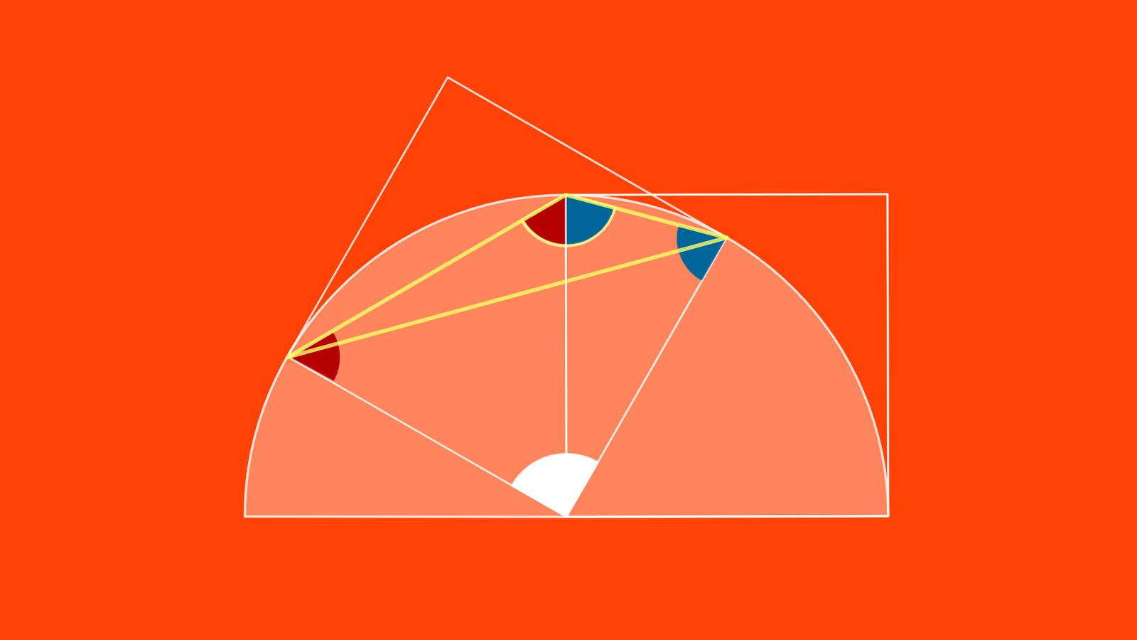 Winkel zwei Quadrate Lösung 2