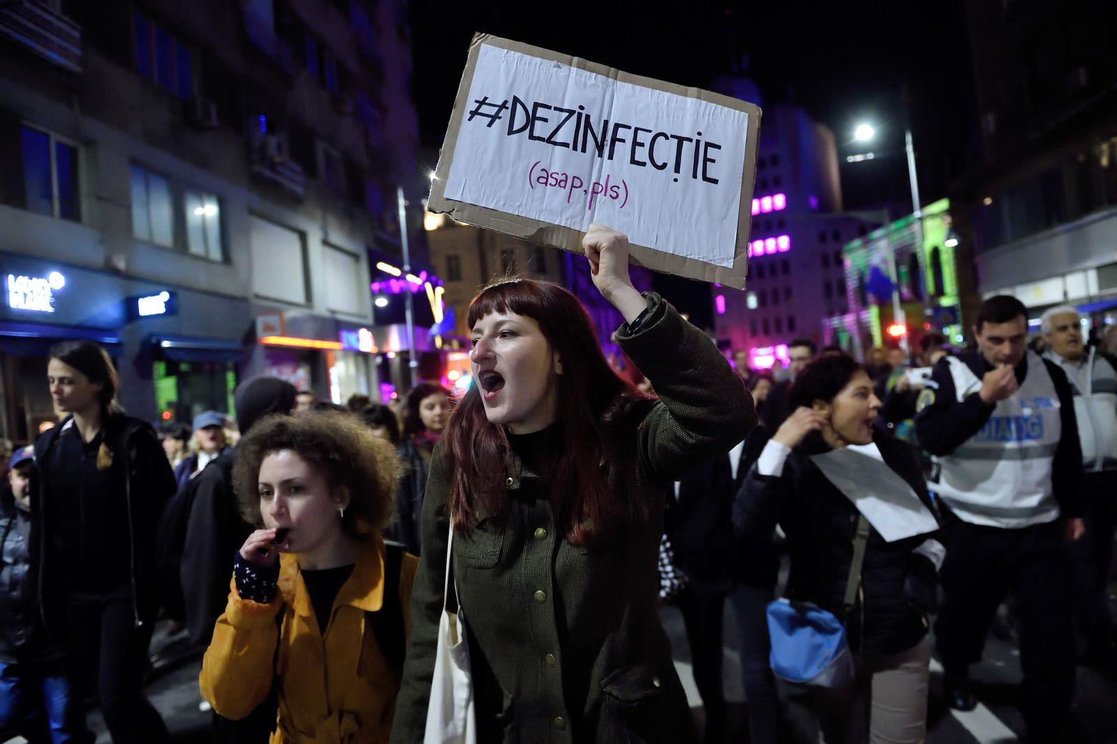 Rumänien/ Protest