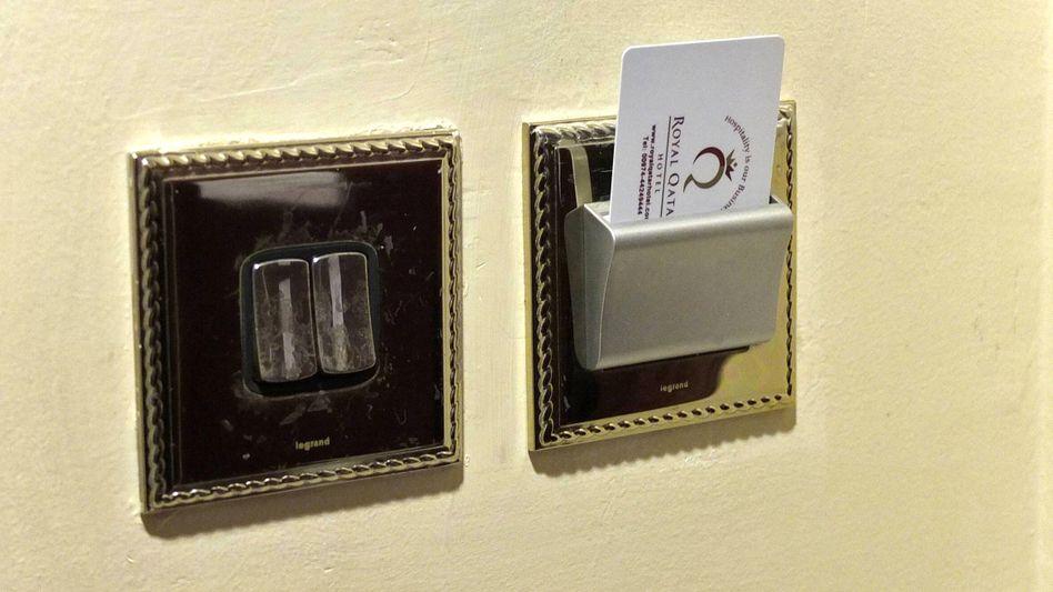 Kartenschloss in einem Hotel (Symbolbild)