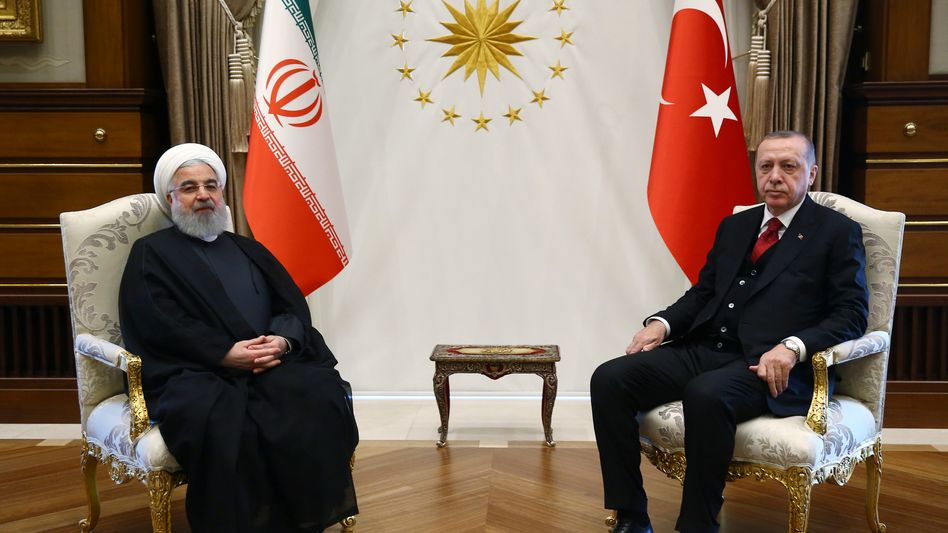 Hassan Rohani, Recep Tayyip Erdogan (Archivbild)